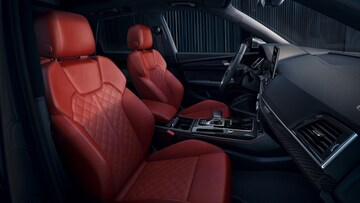 Interior front seat view of the Audi SQ5